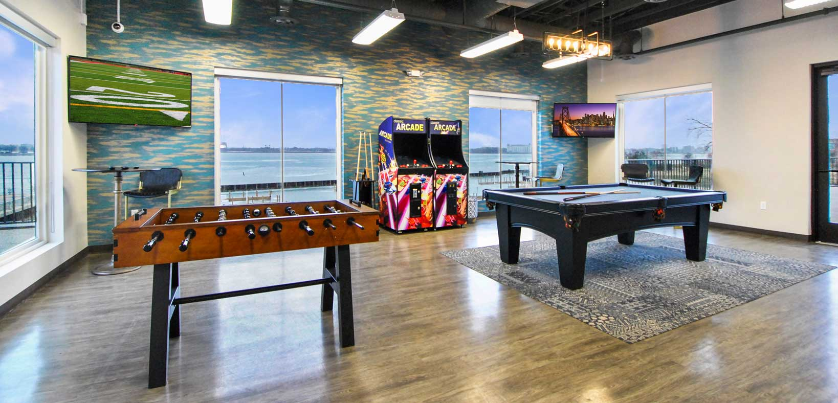 Waters Edge Clubhouse Arcade