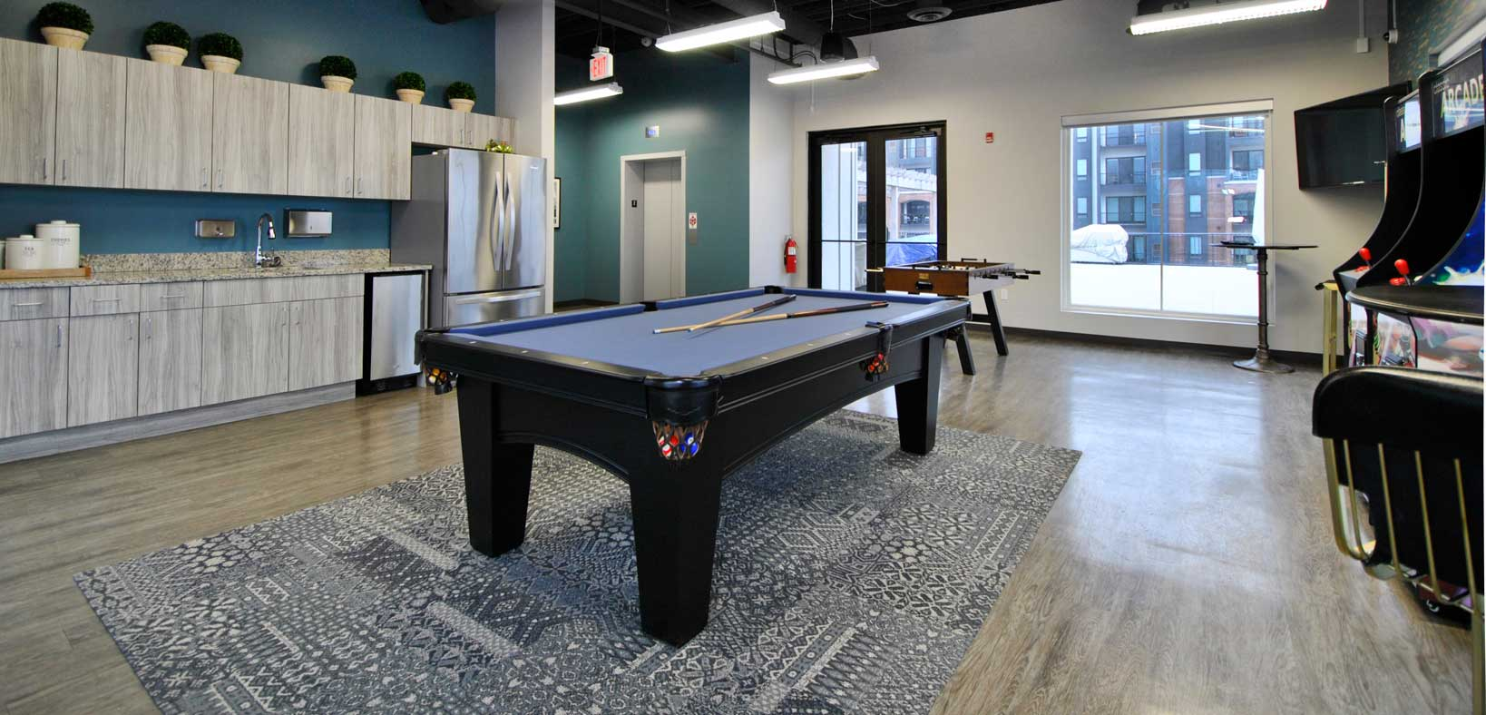 Waters Edge Clubhouse Pool Table